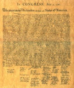 """Declaration of Independence"""