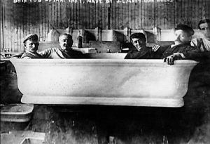 """Special Bathtub For President Taft That Could Fit Four Or Five Men In"""